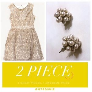 Dresses & Skirts - 2 Piece Set: Dress and Pearl Earrings